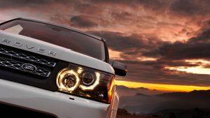 Range Rover Headlights Wallpaper