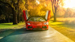 Red Aventador Wallpaper