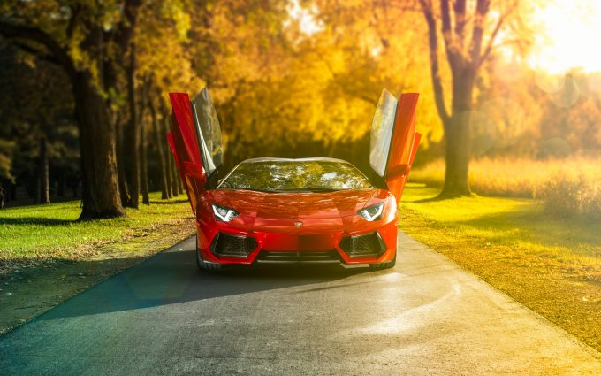 red aventador wallpaper background