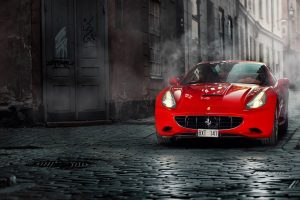 red ferrari wallpaper background wallpapers