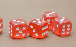 Red Ludo Dice Wallpaper