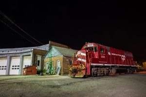 Red Train Engine 4K 5K Wallpaper