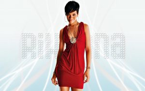 Rihanna Red Dress Wallpaper