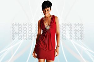 rihanna red dress wallpaper background
