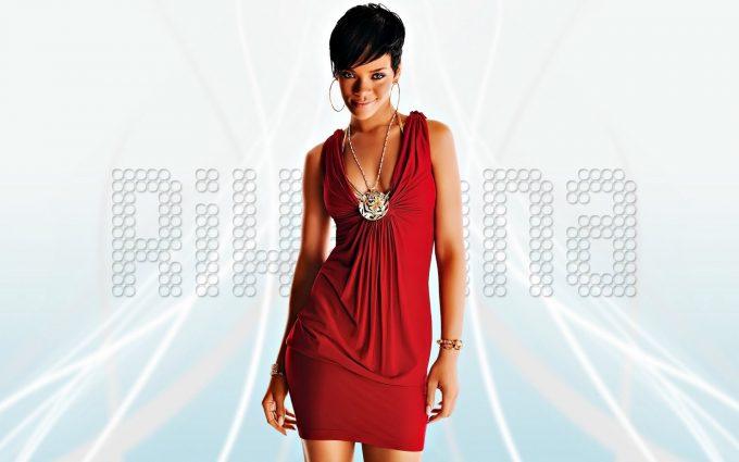 rihanna red dress wallpaper background