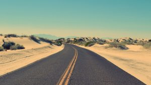 Road in Desert Wallpaper