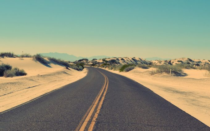 road in desert wallpaper