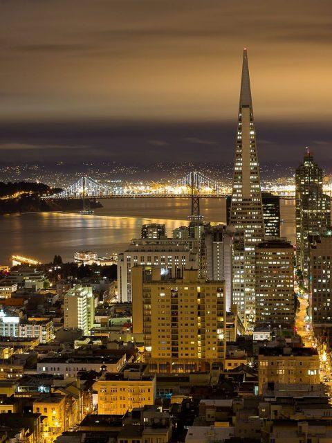 San Francisco Night View Wallpaper Hd Wallpaper Background