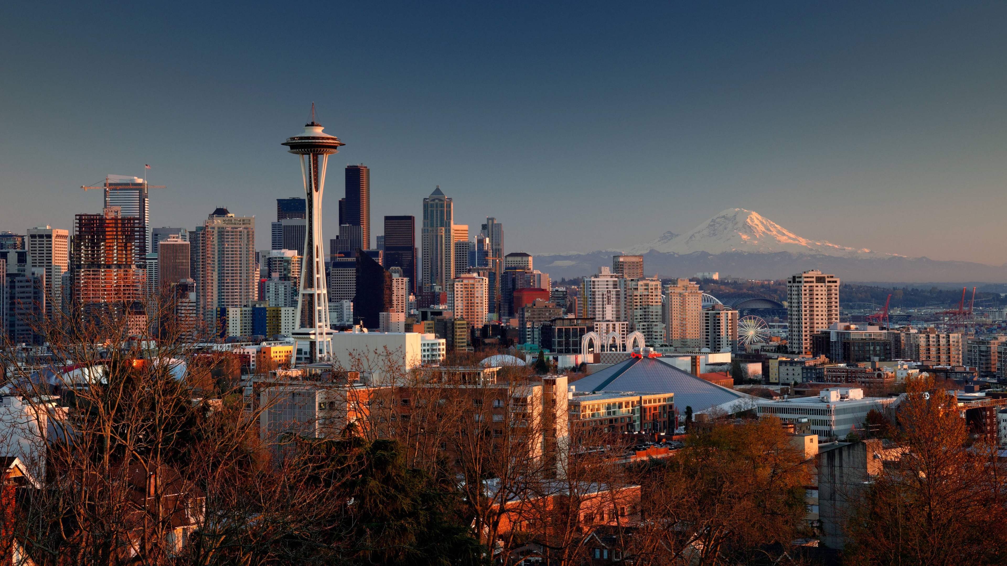 seattle 4k wallpaper background, wallpapers