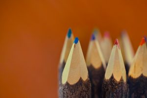 sharp color pencils wallpaper background