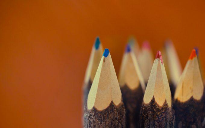 sharp color pencils wallpaper background