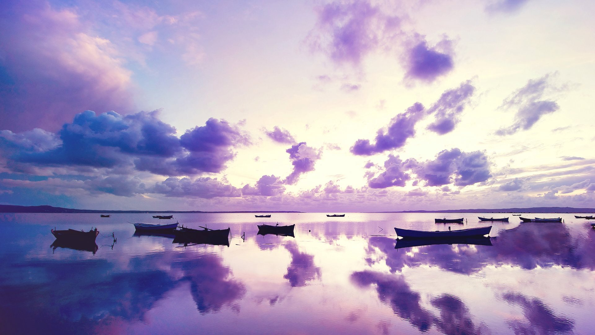 sky clouds reflection wallpaper background