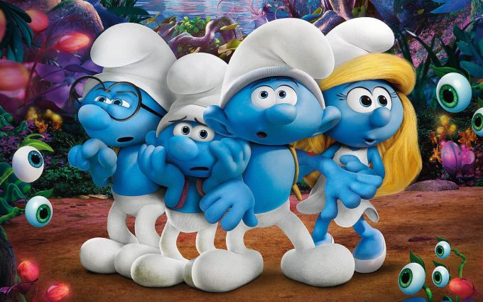smurfs the lost village wallpaper background