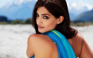 Sonam Kapoor In Blue Dress Wallpaper