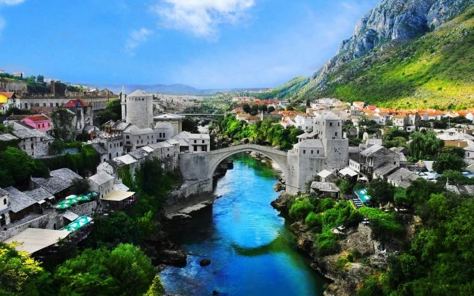 stari most bridge wallpaper background, wallpapers