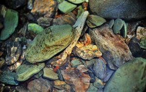 Stones in Water Widescreen Wallpaper