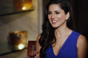 sunny leone in blue dress wallpaper background