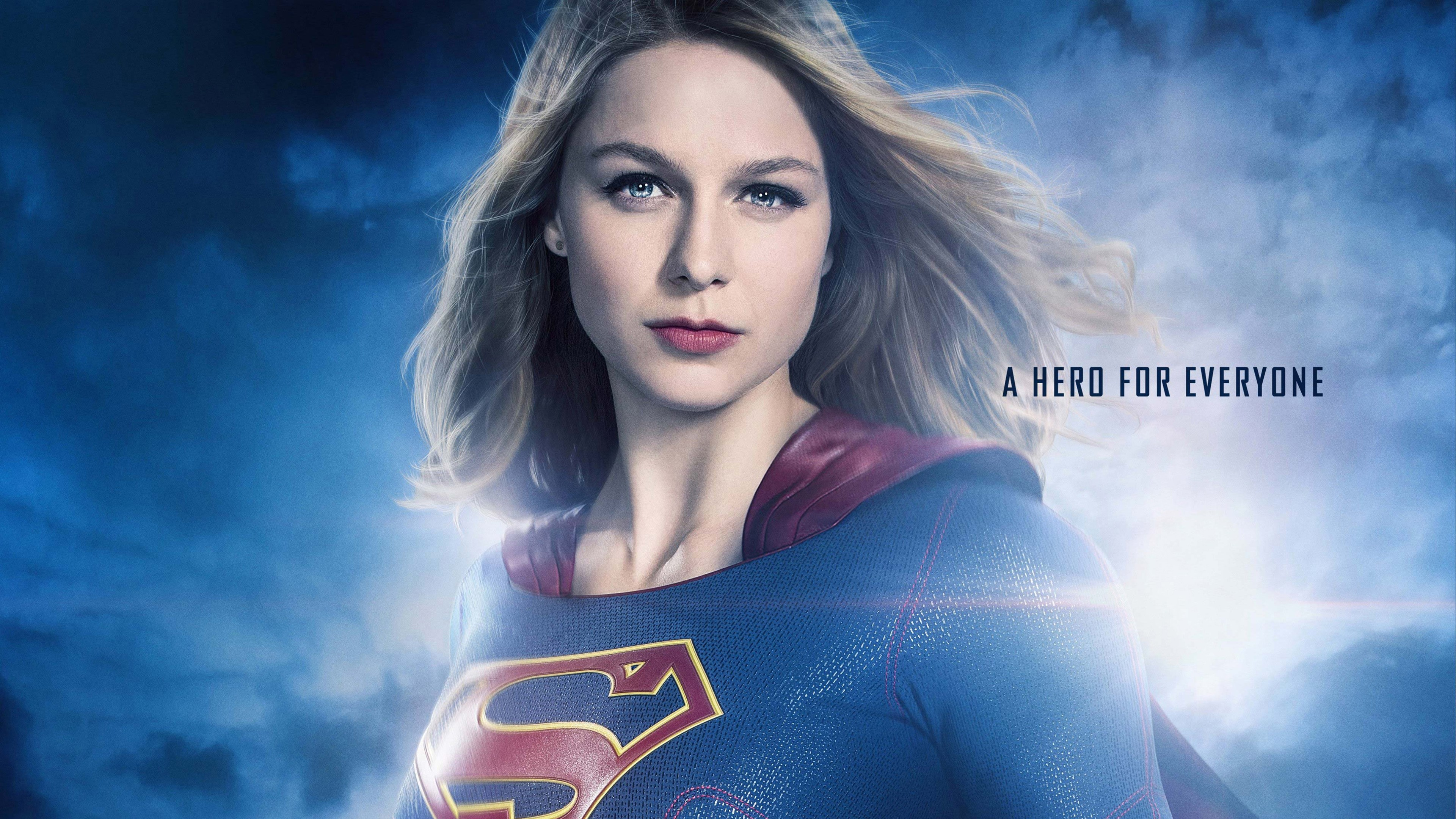 supergirl season 2 wallpaper 4k background