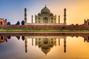taj mahal reflection wallpaper background