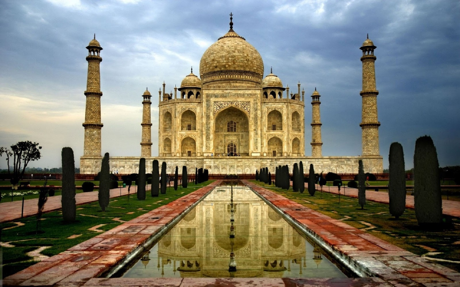 taj mahal widescreen wallpaper background