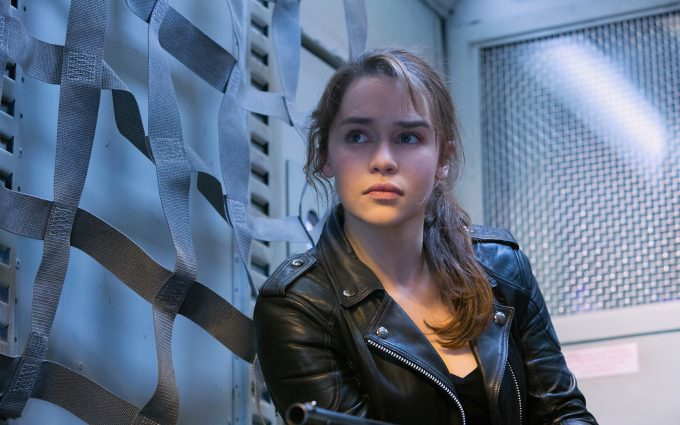 terminator genisys emilia clarke wallpaper background