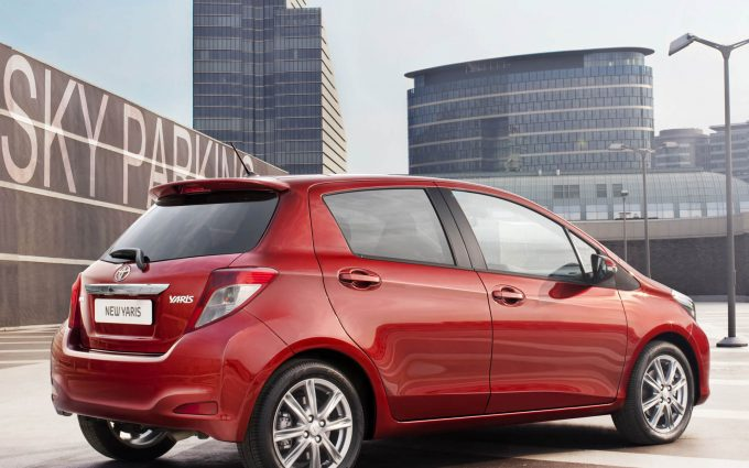 toyota yaris red wallpaper background
