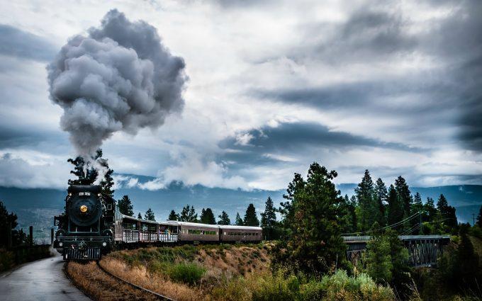 train 4k wallpaper