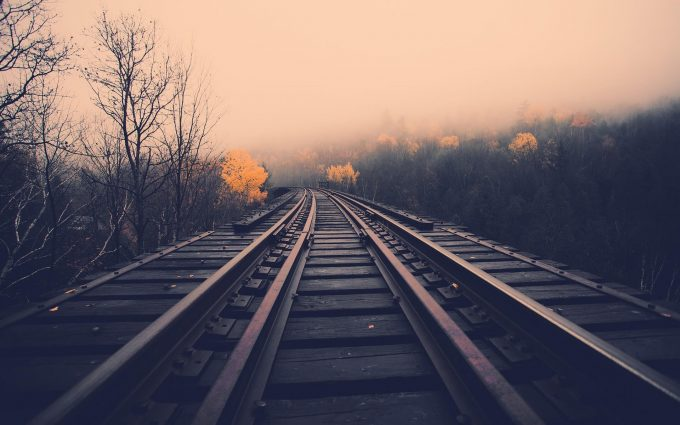 train track background