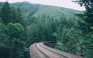 Train Track Wallpaper Background