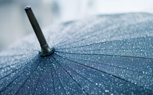 Water Drop Umbrella Wallpaper