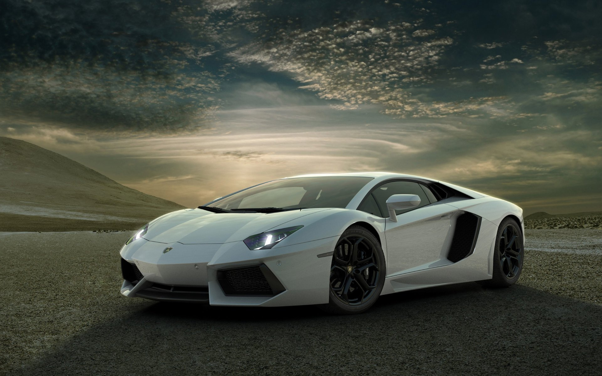 white aventador wallpaper background