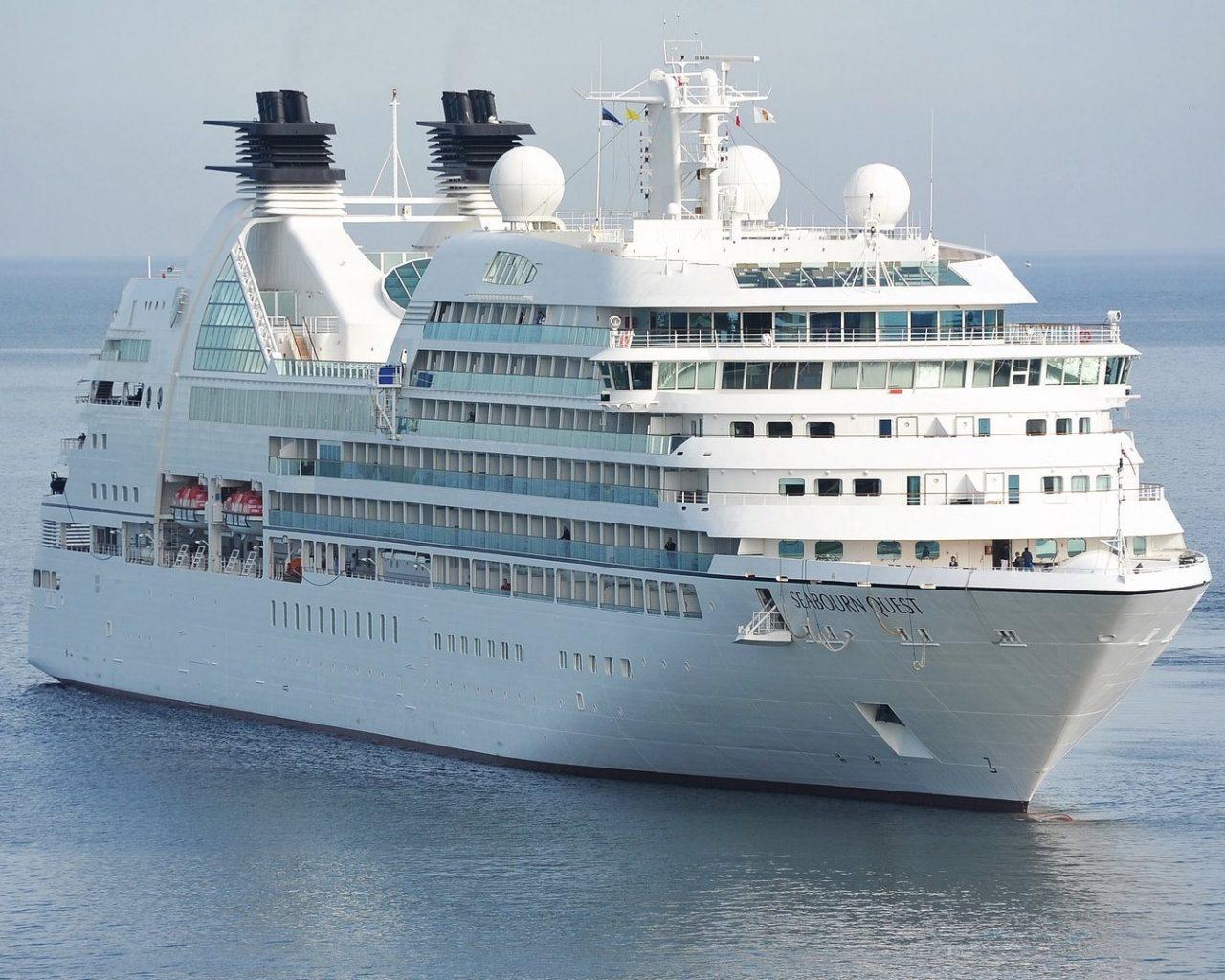 White Cruise Ship Wallpaper Hd Wallpaper Background