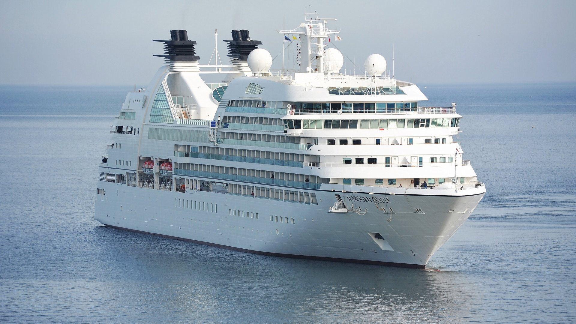 white cruise ship wallpaper background