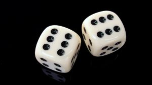 White Ludo Dice Wallpaper