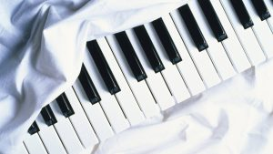 White Piano Wallpaper Background