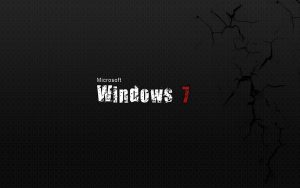Windows 7 Black Wallpaper Background