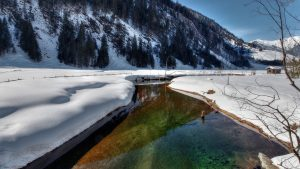 Winter River Wallpaper Background