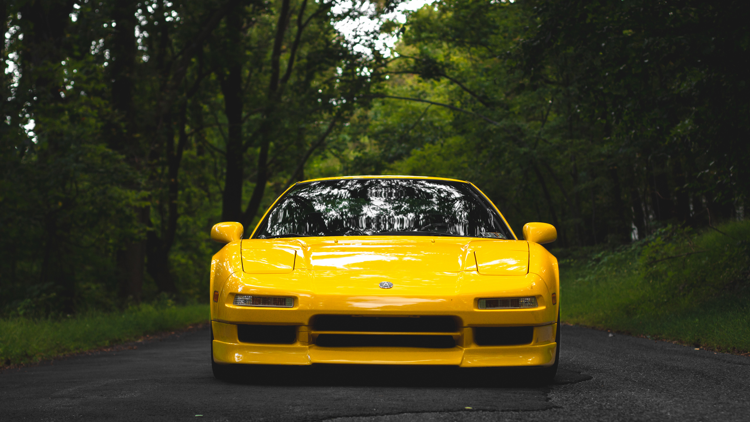yellow car wallpaper background