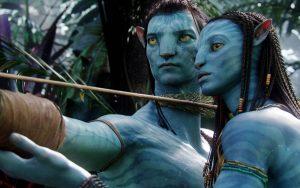 Zoe Saldana in Avatar Wallpaper Background